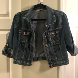 Jackets & Blazers - Cropped Jean Jacket